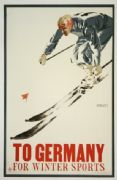 Vintage Travel Poster, winter sports, Germany